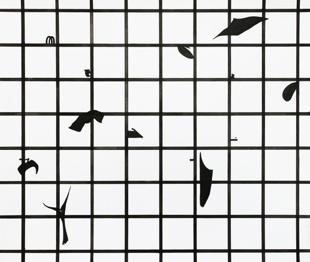 Composition02, ink on paper, 42x49,8cm, 2014