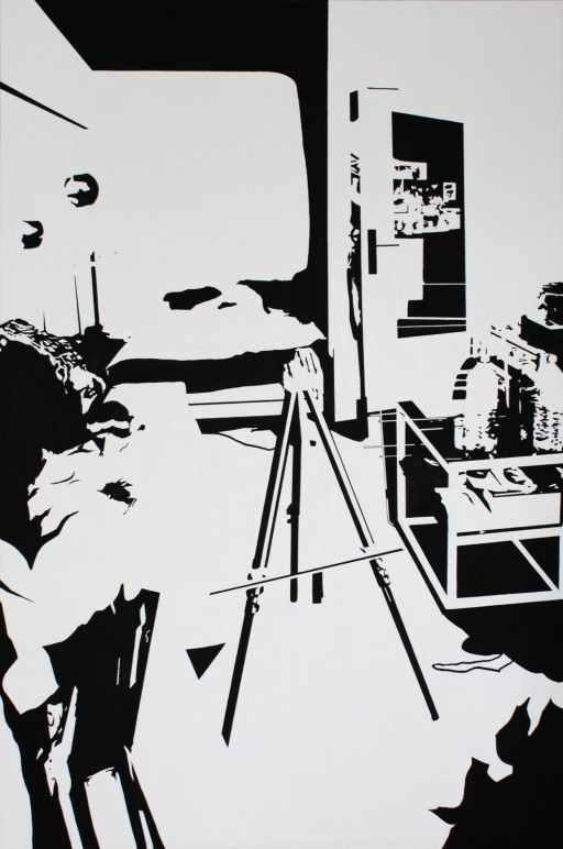 STUDIO15_S3, oil on canvas, 146x97cm, 2013