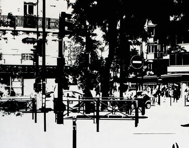PARIS15_Place Charles Michels #05, 2015, acrylic, 73 x 92 cm